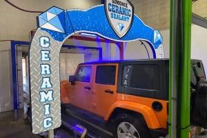 Jeep Passes Through Simoniz Ceramic Sealant Arch