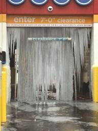 frozen car wash bay