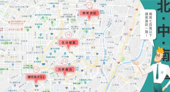 台中市中心 700萬內二房新建案整理 (2019第三季) 13