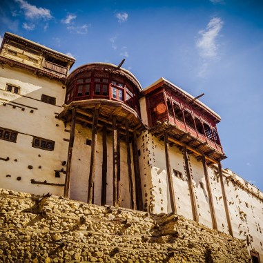 A view of the side of the Baltit Fort that faces the Hunza Valley. Image from Wikimedia Commons