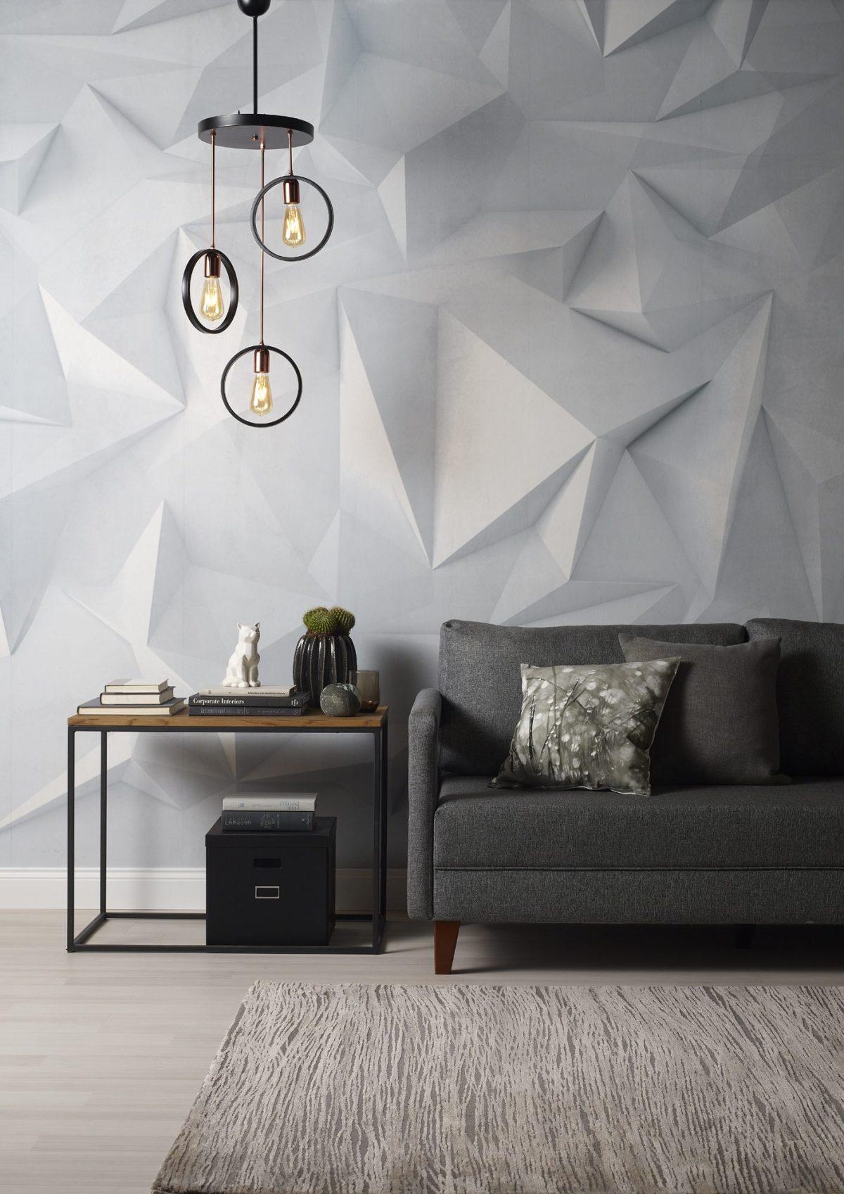 Minimal dekorasyonun salona uygulanışı.
