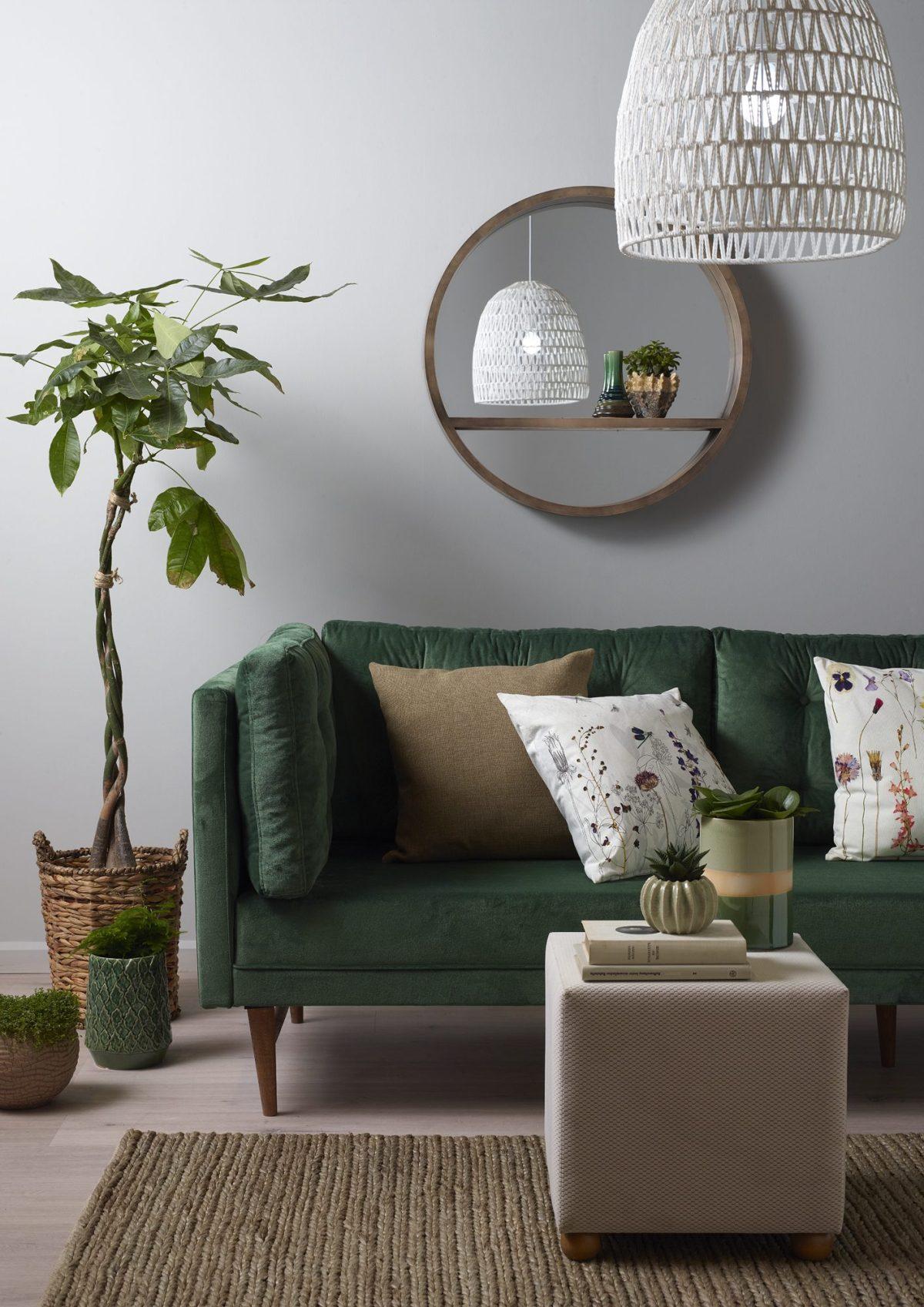 Modern oturma odası dekorasyonu.