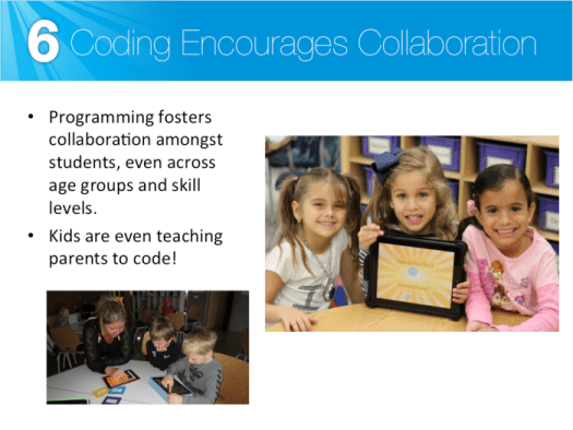 Coding encourages collaboration