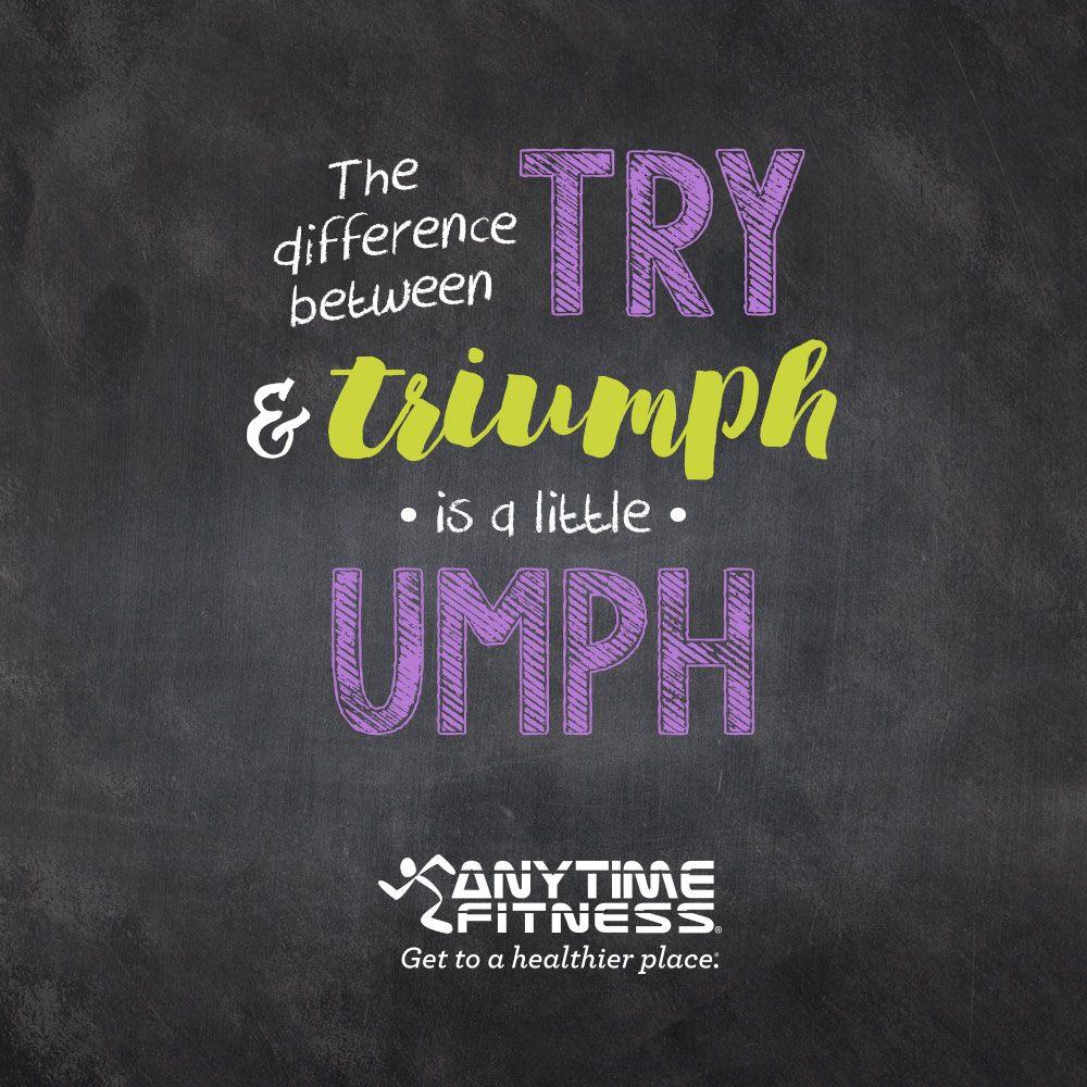 Mensaje motivador de Anytime Fitness