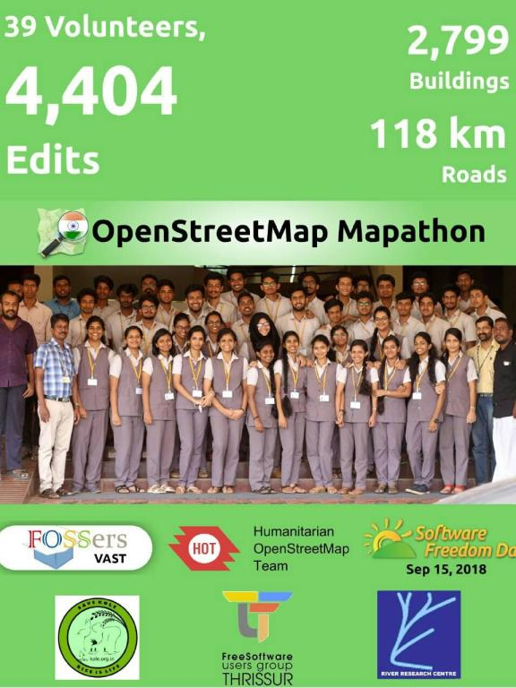 Software Freedom Day with Mapathon in Open Street Map Project