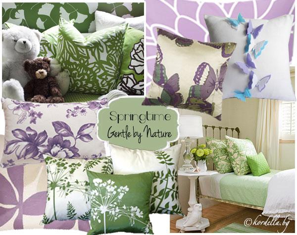 Пролетна декорация - лилаво и зелено