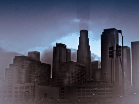 Night falling over Downtown Los-Angeles 1