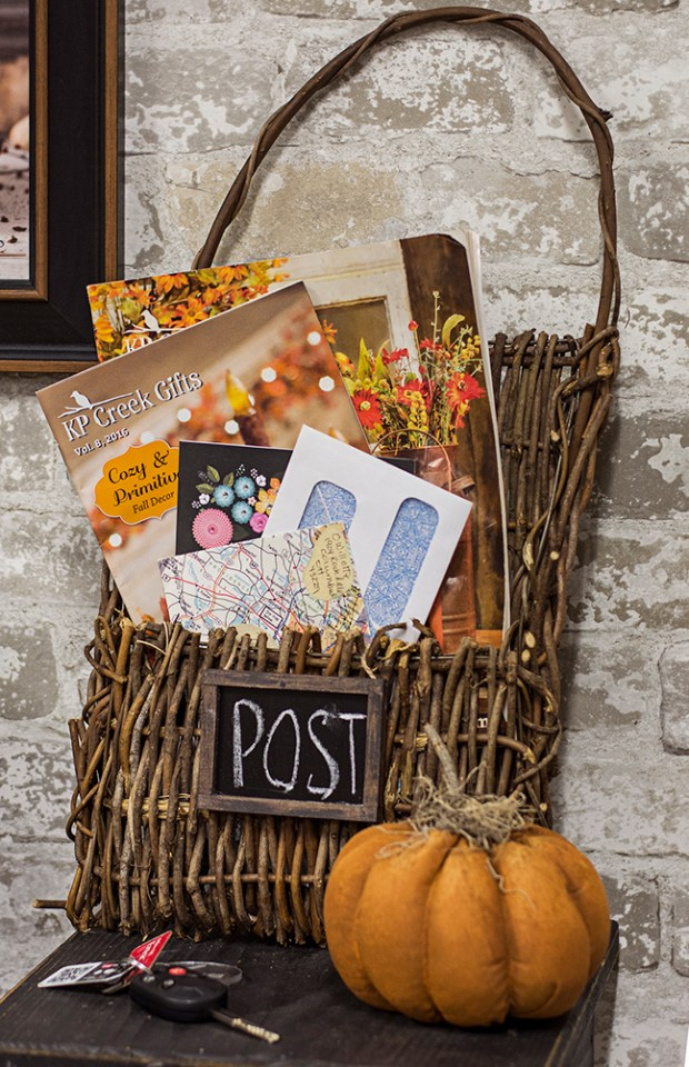 DIY post basket