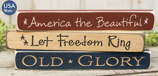 engraved americana signs