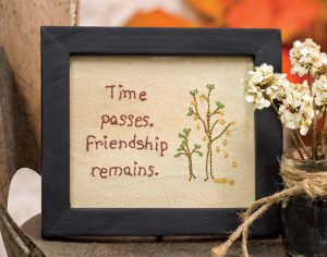 friendship cross stitch sampler