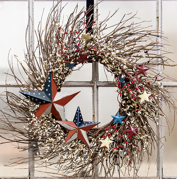 patriotic pip wreath