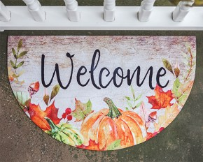 fall welcome door mat
