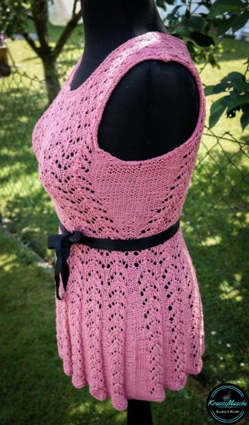 ajour muster stricken love is in the air sommer top