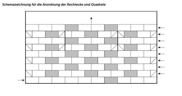 Schemazeichnung Patch für Patchworkjacke Pieceful Cardigan
