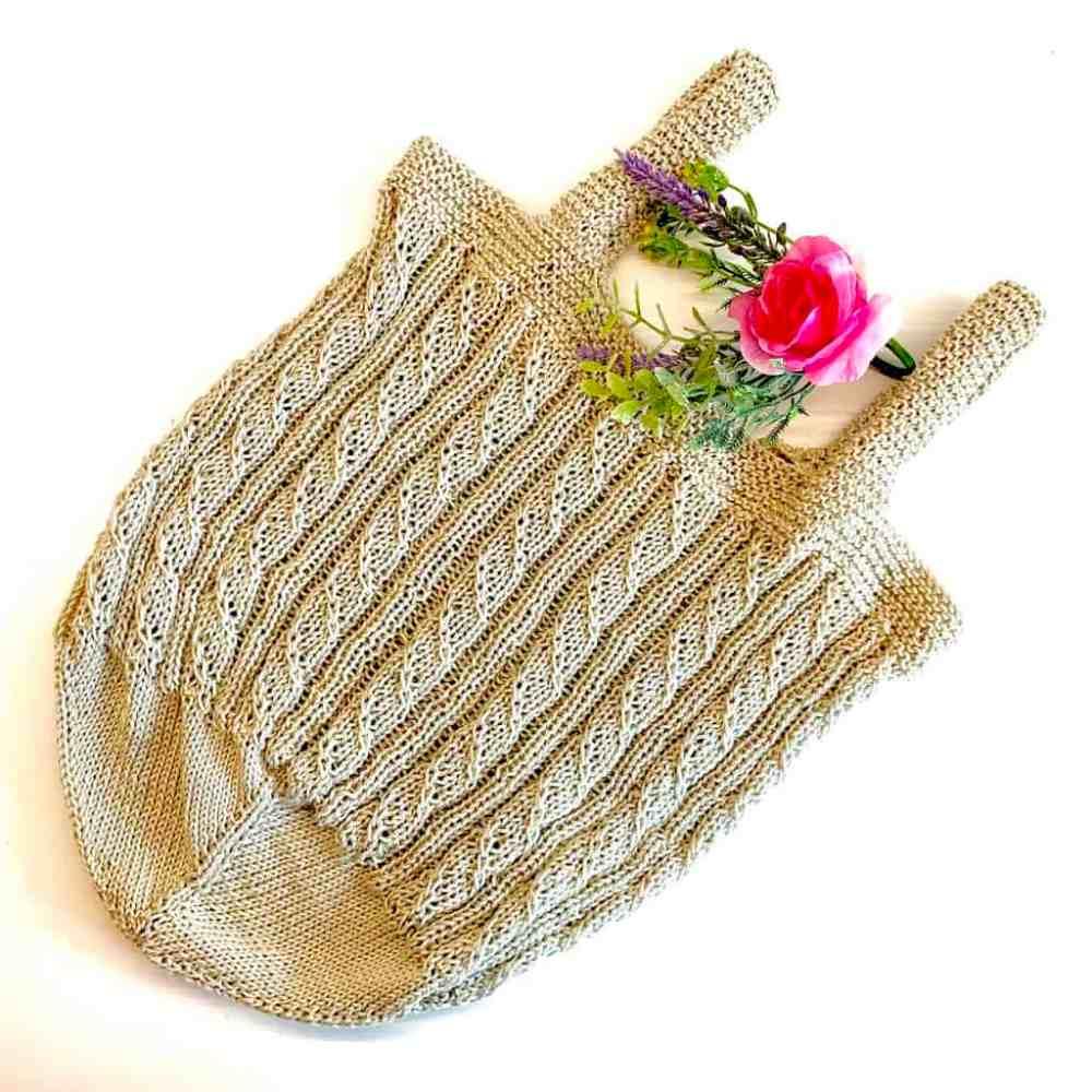 strickanleitung für nachhaltige tasche zum einkaufen oder als projekttasche von krassemasche im etsy shop