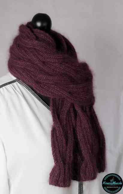 lana grossa schal burgundy krassemasche anleitung schal stricken