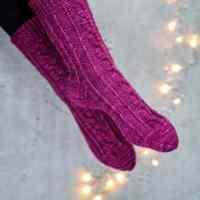 Streben zum Glück Socken mit Herzchenferse