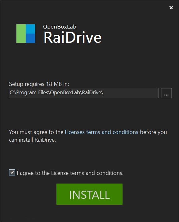 RaiDrive 安裝 install