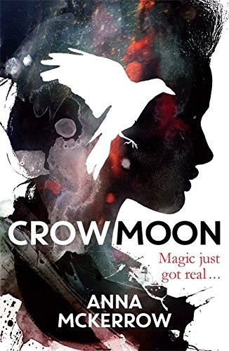 Crow Moon by Anna McKerrow | reading, books, book covers, cover love, black, white, red