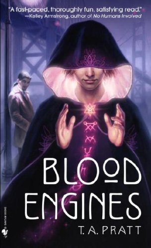 Blood Engines by T.A. Pratt | reading, books, book covers, cover love, cloaks, hoods