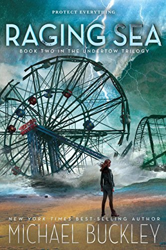 Raging Sea by Michael Buckley | books, reading, book covers, cover love, ferris wheels