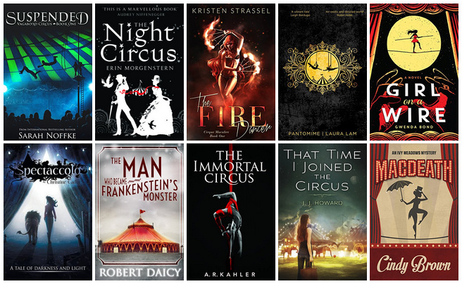 Book Covers featuring Circus   books, reading, book covers, cover love, circus