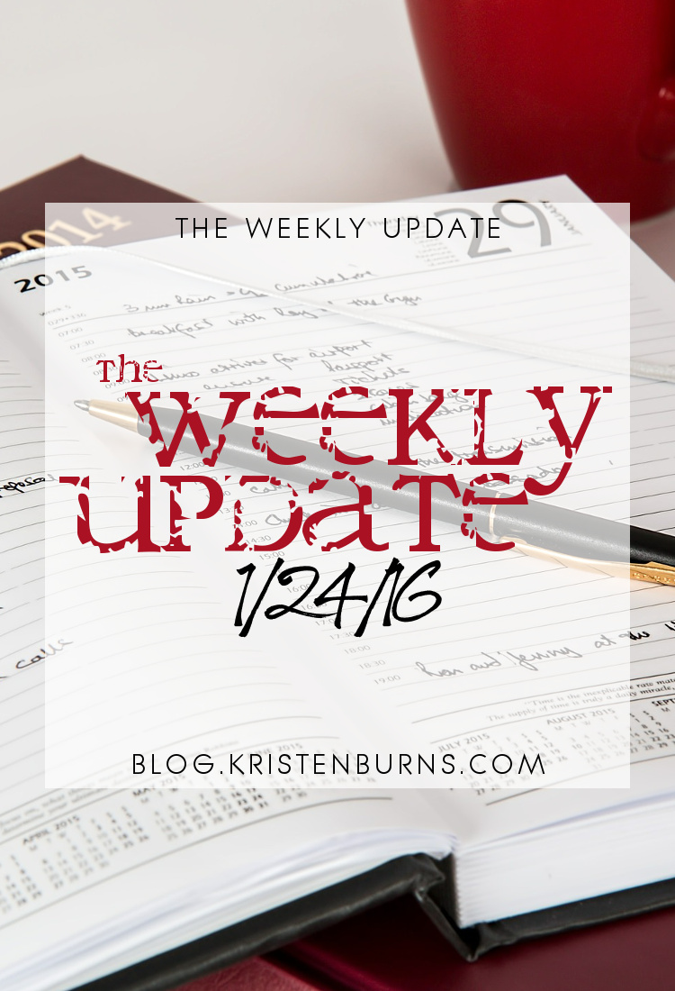 The Weekly Update: 1/17/16 | books, reading, blogging