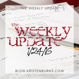 The Weekly Update: 1/24/16