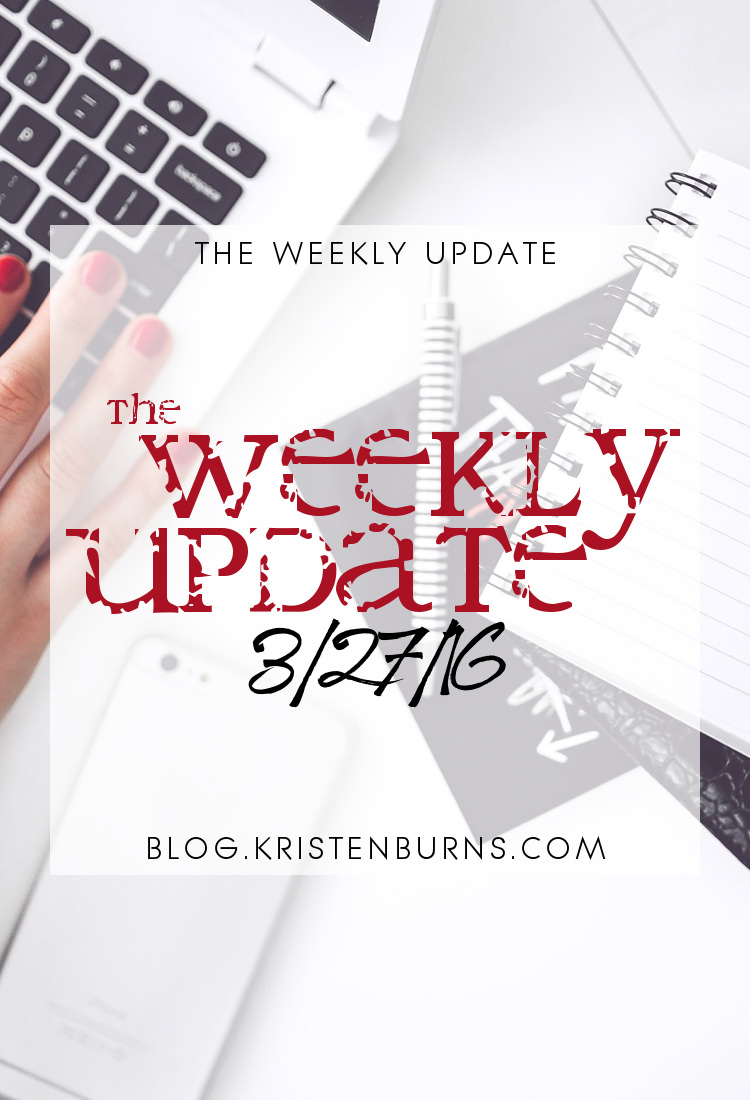 The Weekly Update: 3-27-16 | books, reading, blogging