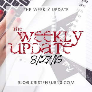 The Weekly Update: 3/27/16