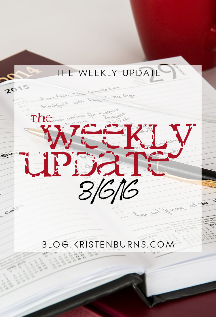 The Weekly Update: 3-6-16 | books, reading, blogging