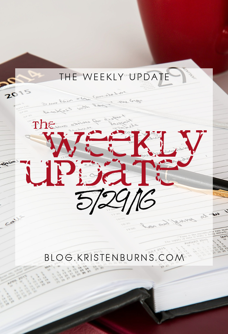 The Weekly Update: 5/29/16 | reading, books, blogging