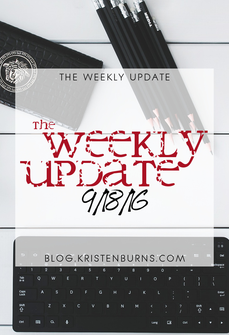 The Weekly Update: 9-18-16 | reading, books, blogging