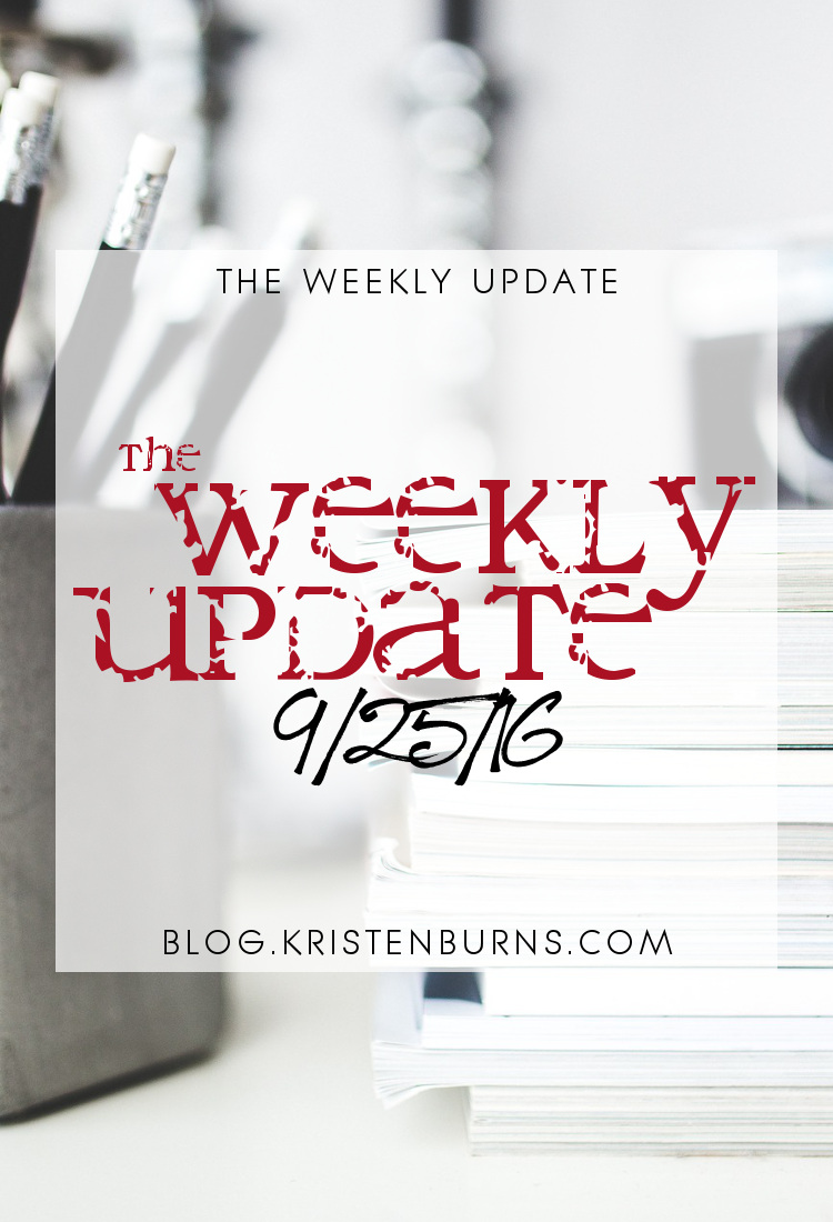 The Weekly Update: 9-25-16 | reading, books