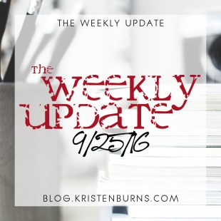 The Weekly Update: 9/25/16