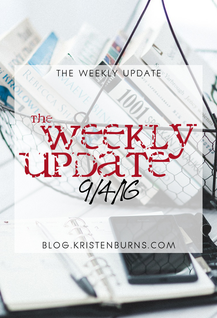 The Weekly Update: 9-4-16 | reading, books
