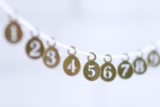 連続する数字のプレート