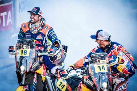 Matthias Walkner (AUT, #16) & Sam Sunderland (GBR, #14) Dakar 2017
