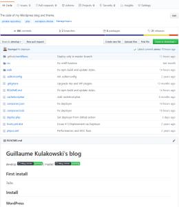 La page GitHub du blog