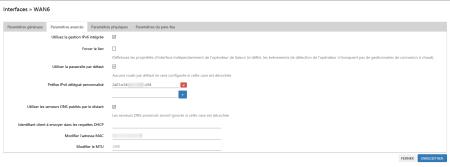 LuCi - Interfaces » WAN6 (Paramètres avancé)