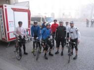 6Uhr20 kurz vor dem Start in Oranienburg