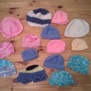 Picture of crocheted hats