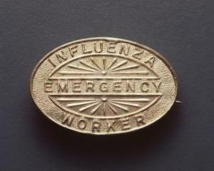 Influenza Emergency Worker Badge