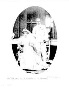 Wedding picture of John Bertie Miller and Mabel Ruck