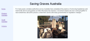 saving graves australia website