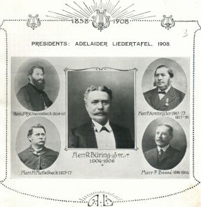 Presidents of the Adelaider Liedertafel