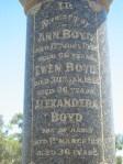 Ann Boyd Ewen Boyd Alexander Boyd Elmore Cemetery