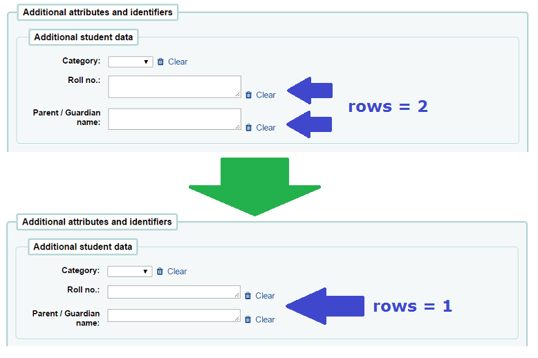 JQuery quicktip : Using Patron Attribute fields without double rowed textarea boxes