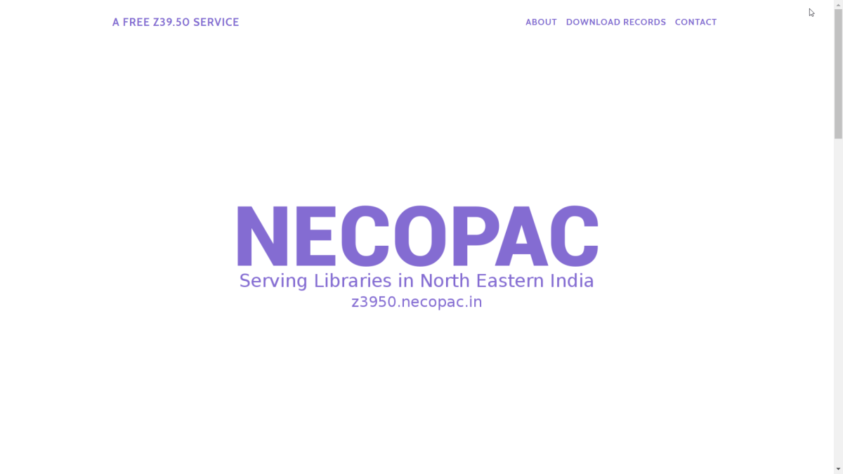 NECOPAC : a new z39.50 service from North Eastern India