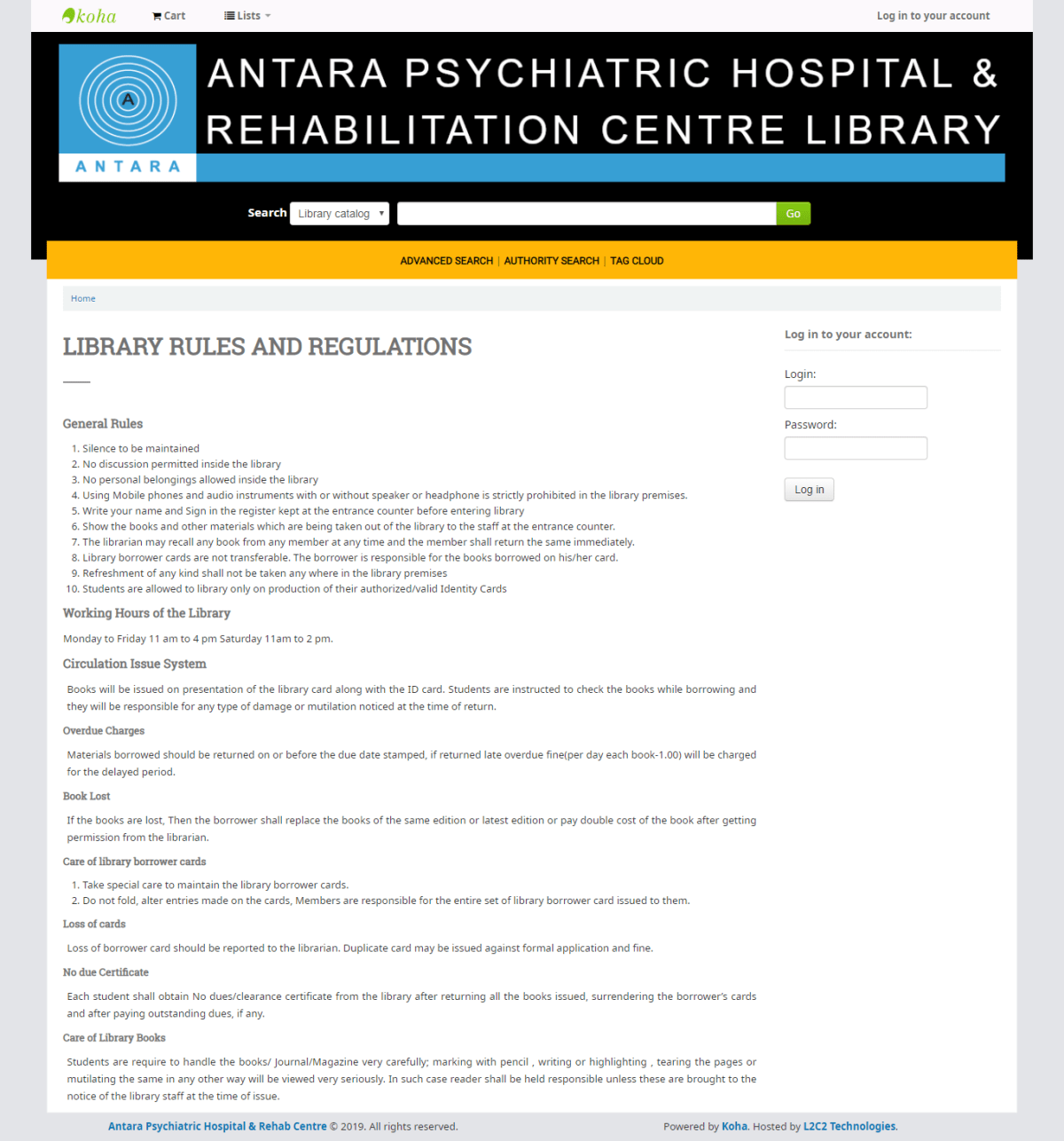 Antara Psychiatric Hospital & Rehabilitation Centre Library partners with L2C2 Technologies